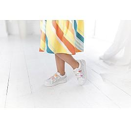 Детские кеды Woopy Fashion белые для девочек натуральная кожа размер 23-26 (5144) Фото 6