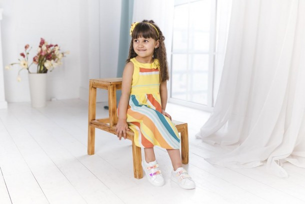 Девочка обута в детские кеды Woopy Fashion белые (5144) Фото 2