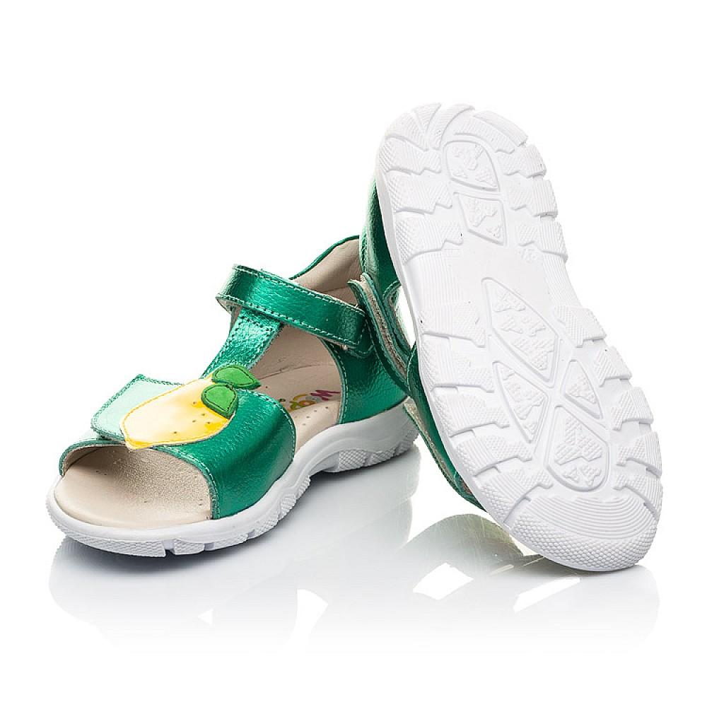 Детские босоножки Woopy Fashion зеленые для девочек натуральная кожа размер 21-30 (5145) Фото 2