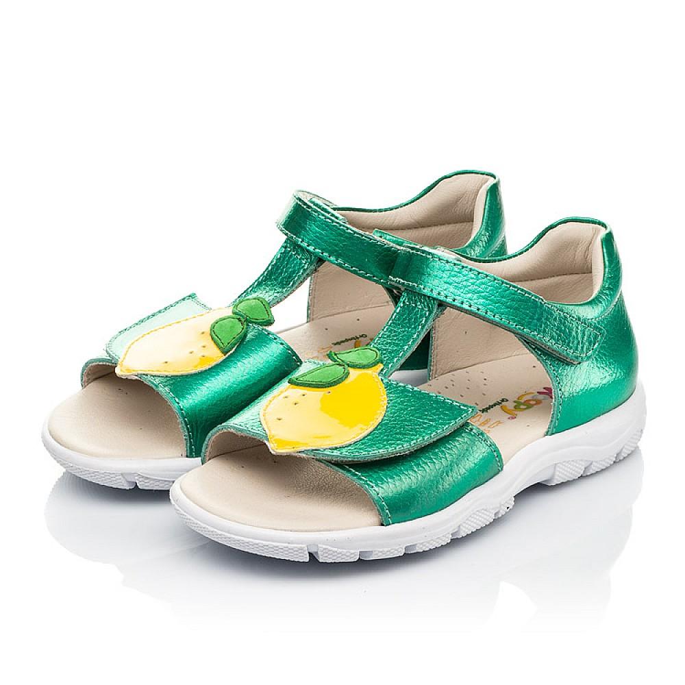 Детские босоножки Woopy Fashion зеленые для девочек натуральная кожа размер 21-30 (5145) Фото 3