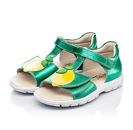 Детские босоножки Woopy Fashion зеленые для девочек натуральная кожа размер 21-29 (5145) Фото 3