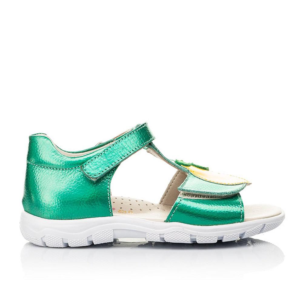Детские босоножки Woopy Fashion зеленые для девочек натуральная кожа размер 21-30 (5145) Фото 4