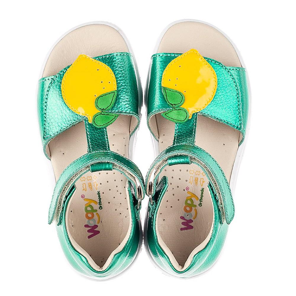 Детские босоножки Woopy Fashion зеленые для девочек натуральная кожа размер 21-30 (5145) Фото 5