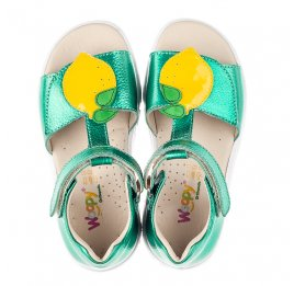 Детские босоножки Woopy Fashion зеленые для девочек натуральная кожа размер 21-29 (5145) Фото 5