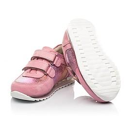 Детские кроссовки Woopy Fashion розовые для девочек натуральный нубук размер 19-22 (5146) Фото 2
