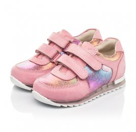 Детские кроссовки Woopy Fashion розовые для девочек натуральный нубук размер 19-22 (5146) Фото 3