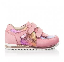 Детские кроссовки Woopy Fashion розовые для девочек натуральный нубук размер 19-22 (5146) Фото 4