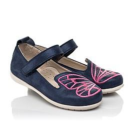 Детские туфли Woopy Fashion синие для девочек натуральный нубук размер 22-30 (5147) Фото 1