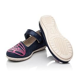 Детские туфли Woopy Fashion синие для девочек натуральный нубук размер 22-30 (5147) Фото 2