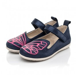 Детские туфли Woopy Fashion синие для девочек натуральный нубук размер 22-29 (5147) Фото 3