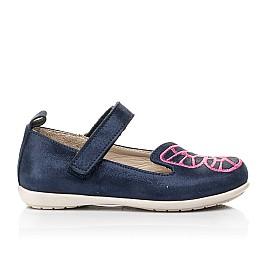 Детские туфли Woopy Fashion синие для девочек натуральный нубук размер 22-30 (5147) Фото 4