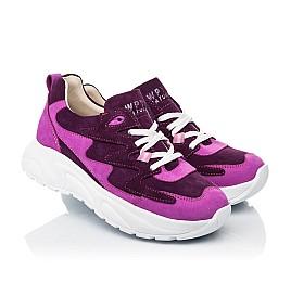 Детские кроссовки Woopy Fashion фиолетовые для девочек натуральный нубук и замша размер 33-39 (5149) Фото 1