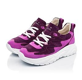 Детские кроссовки Woopy Fashion фиолетовые для девочек натуральный нубук и замша размер 33-39 (5149) Фото 3