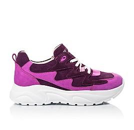 Детские кроссовки Woopy Fashion фиолетовые для девочек натуральный нубук и замша размер 33-39 (5149) Фото 4