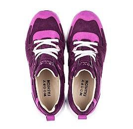 Детские кроссовки Woopy Fashion фиолетовые для девочек натуральный нубук и замша размер 33-39 (5149) Фото 5