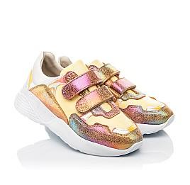 Детские кроссовки Woopy Fashion разноцветные для девочек натуральная кожа, нубук размер 26-37 (5151) Фото 1