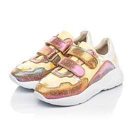 Детские кроссовки Woopy Fashion разноцветные для девочек натуральная кожа, нубук размер 26-37 (5151) Фото 3