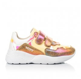 Детские кроссовки Woopy Fashion разноцветные для девочек натуральная кожа, нубук размер 26-37 (5151) Фото 4
