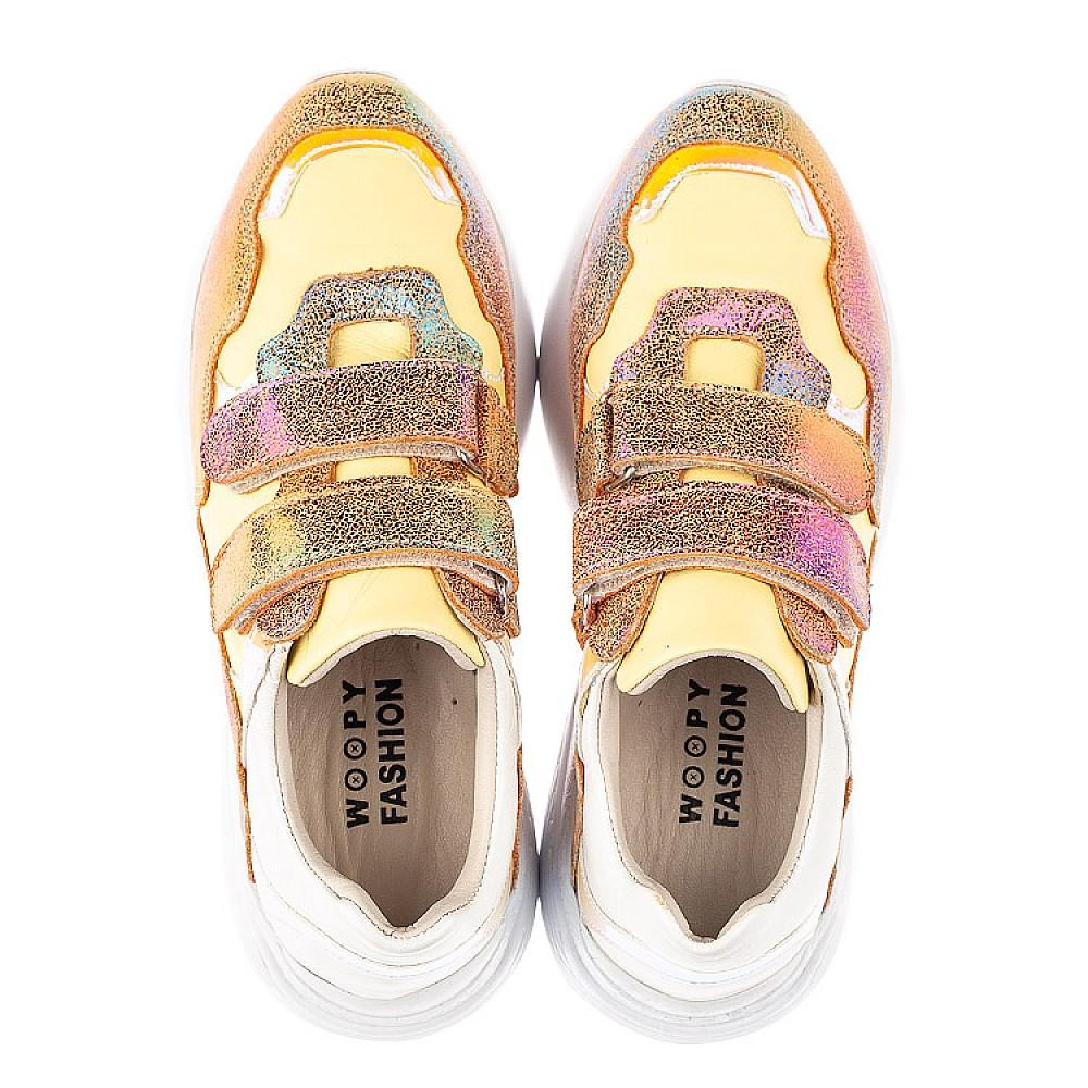 Детские кроссовки Woopy Fashion разноцветные для девочек натуральная кожа, нубук размер 26-37 (5151) Фото 5