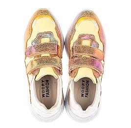 Детские кроссовки Woopy Fashion разноцветные для девочек натуральная кожа, нубук размер 36-37 (5151) Фото 5
