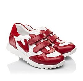 Детские кроссовки Woopy Fashion белые,красные для девочек натуральная кожа и замша размер 19-37 (5152) Фото 1