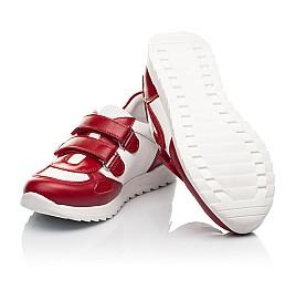 Детские кроссовки Woopy Fashion белые,красные для девочек натуральная кожа и замша размер 19-36 (5152) Фото 2