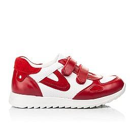Детские кроссовки Woopy Fashion белые,красные для девочек натуральная кожа и замша размер 19-37 (5152) Фото 4