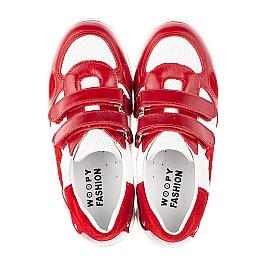 Детские кроссовки Woopy Fashion белые,красные для девочек натуральная кожа и замша размер 19-36 (5152) Фото 5