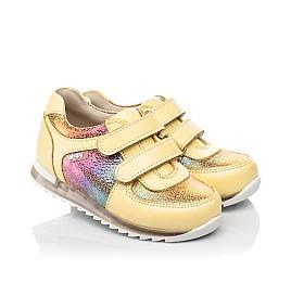 Детские кроссовки Woopy Fashion желтые для девочек натуральная кожа, нубук размер 19-25 (5153) Фото 1
