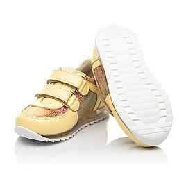 Детские кроссовки Woopy Fashion желтые для девочек натуральная кожа, нубук размер 19-23 (5153) Фото 2