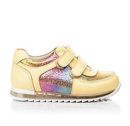 Детские кроссовки Woopy Fashion желтые для девочек натуральная кожа, нубук размер 19-23 (5153) Фото 4