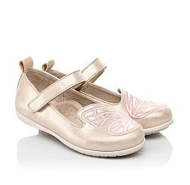 Детские туфли Woopy Fashion бежевые для девочек натуральный нубук размер 22-26 (5154) Фото 1