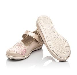 Детские туфли Woopy Fashion бежевые для девочек натуральный нубук размер 22-26 (5154) Фото 2