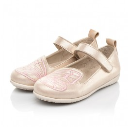 Детские туфли Woopy Fashion бежевые для девочек натуральный нубук размер 22-26 (5154) Фото 3
