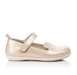 Детские туфли Woopy Fashion бежевые для девочек натуральный нубук размер 22-29 (5154) Фото 4
