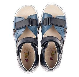 Детские босоножки Woopy Fashion синие для мальчиков натуральная кожа размер 25-36 (5155) Фото 5