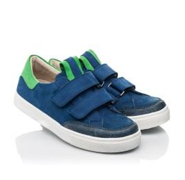 Детские  Woopy Fashion синие для мальчиков натуральный нубук размер 24-35 (5157) Фото 1