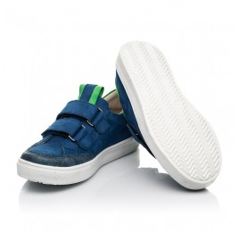 Детские кеды Woopy Fashion синие для мальчиков натуральный нубук размер 24-35 (5157) Фото 2