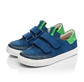 Детские кеды Woopy Fashion синие для мальчиков натуральный нубук размер 24-35 (5157) Фото 3