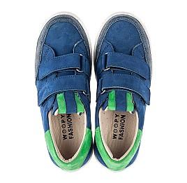 Детские кеды Woopy Fashion синие для мальчиков натуральный нубук размер 24-35 (5157) Фото 5