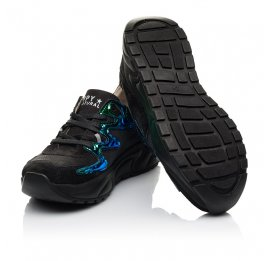 Детские кроссовки Woopy Fashion черные для девочек натуральный нубук размер 33-38 (5158) Фото 2
