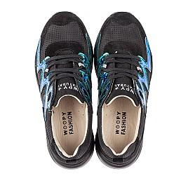 Детские кроссовки Woopy Fashion черные для девочек натуральный нубук размер 33-38 (5158) Фото 5
