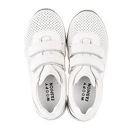 Детские кроссовки Woopy Fashion белые для девочек натуральная кожа размер 29-37 (5159) Фото 5