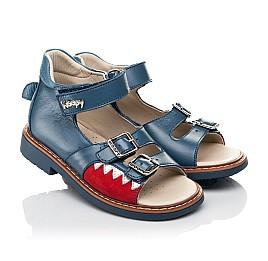 Детские босоножки Woopy Orthopedic синие для мальчиков натуральная кожа размер 19-30 (5160) Фото 1