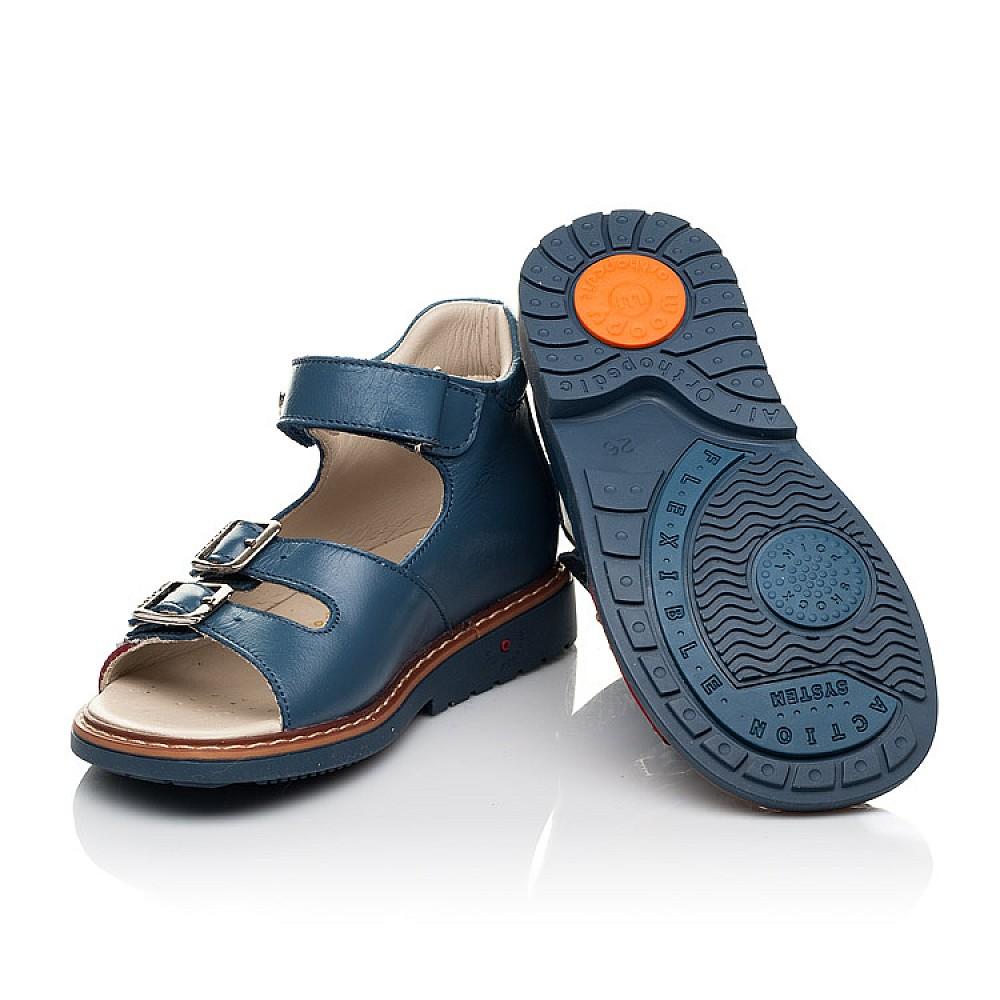 Детские босоножки Woopy Orthopedic синие для мальчиков натуральная кожа размер 19-33 (5160) Фото 2