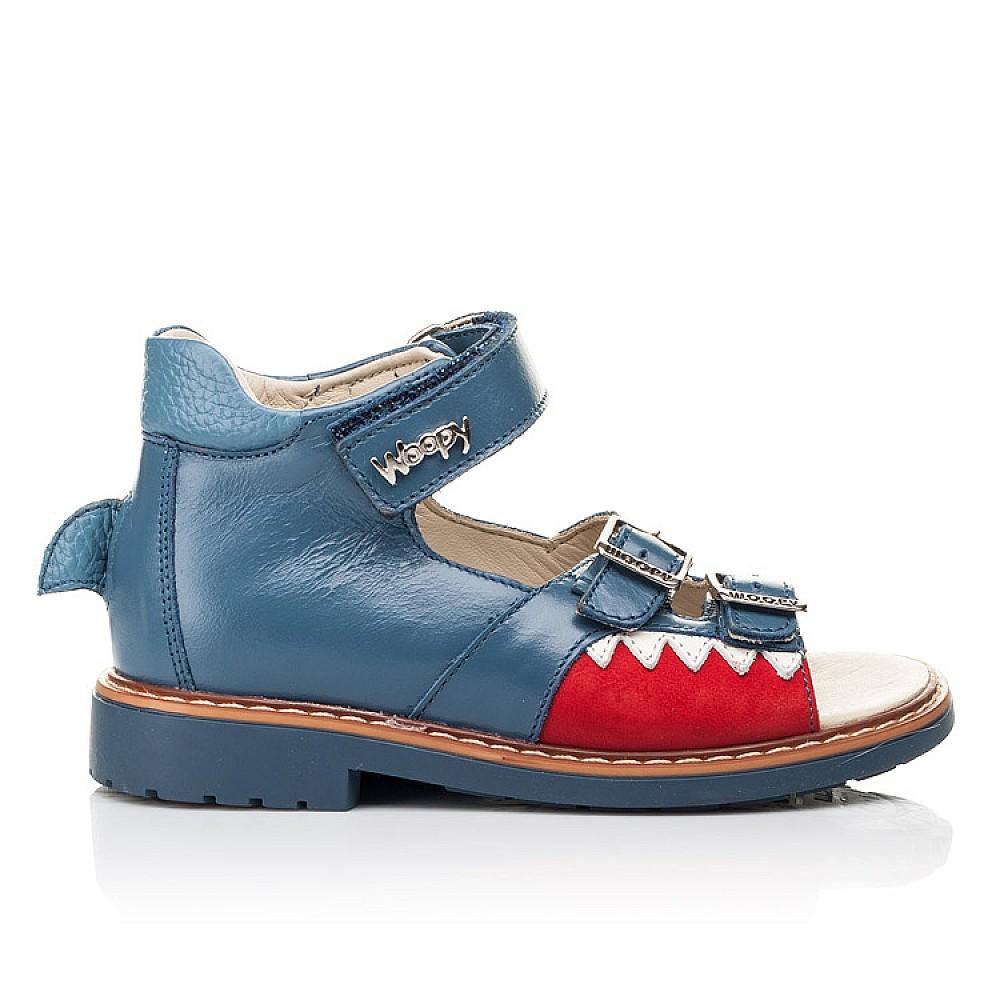 Детские босоножки Woopy Orthopedic синие для мальчиков натуральная кожа размер 19-33 (5160) Фото 4