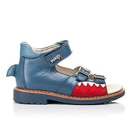 Детские босоножки Woopy Orthopedic синие для мальчиков натуральная кожа размер 19-30 (5160) Фото 4