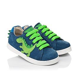 Детские кеды Woopy Fashion синие для мальчиков натуральный нубук размер 18-30 (5161) Фото 1