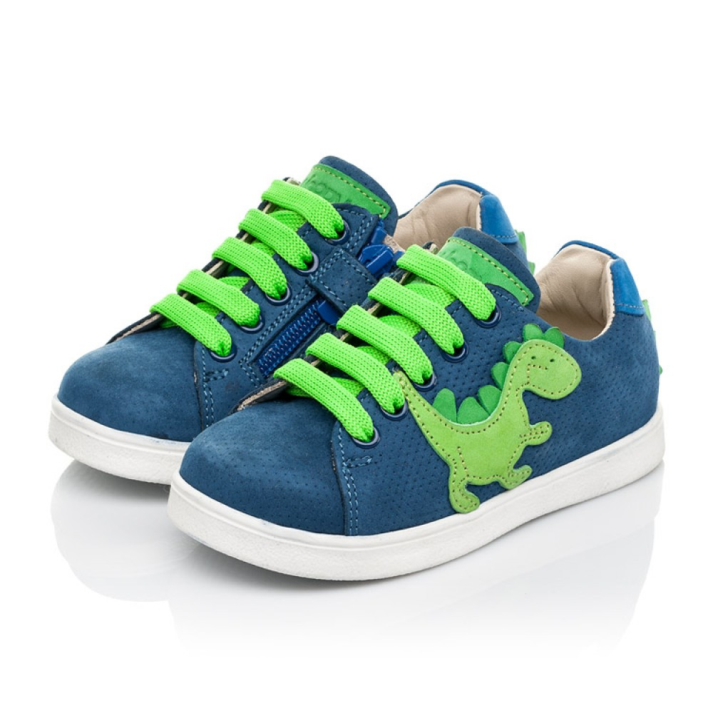 Детские кеды Woopy Fashion синие для мальчиков натуральный нубук размер 18-30 (5161) Фото 3