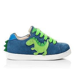Детские кеды Woopy Fashion синие для мальчиков натуральный нубук размер 18-30 (5161) Фото 4